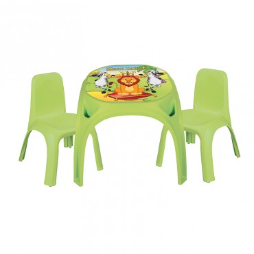 Pilsan children's table with 2 chairs Table King, 03422