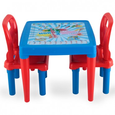 Pilsan children's table with 2 chairs  Blue, 03414